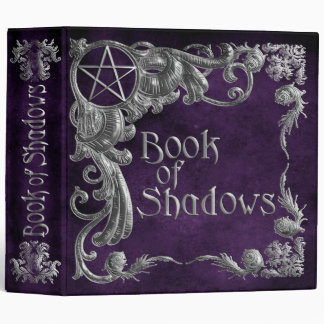 Book Of Shadows Purple with Silver Highlights Binders
