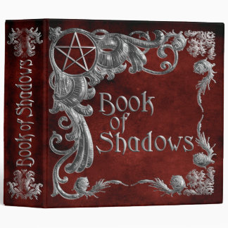 Book Of Shadows Red with Silver Highlights Vinyl Binders
