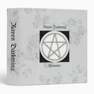 Book of Shadows White Gothic Cherry Blossoms Md Binders
