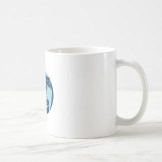 Book On Car Seat Oval Woodcut Coffee Mug