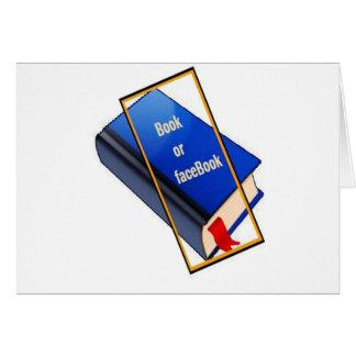 Book or facebook card