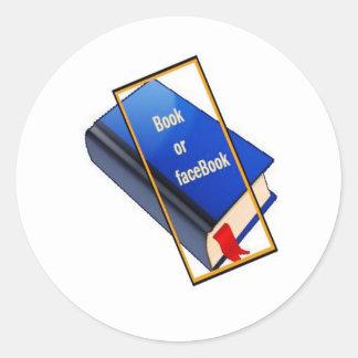 Book or facebook sticker