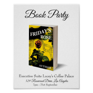 Book Party. Event. Product Launch.Custom Template Poster