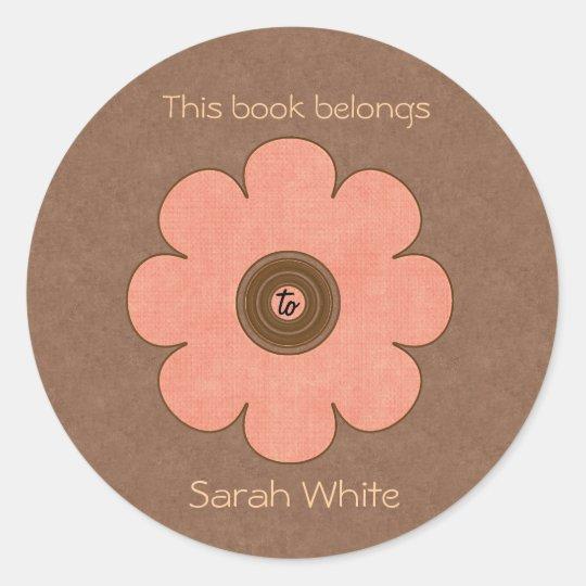 Book Plate Classic Round Sticker