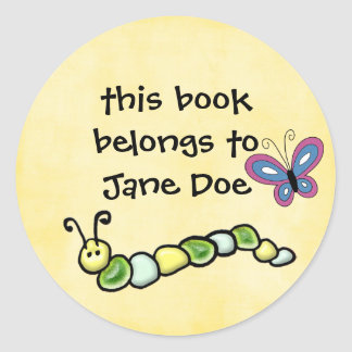 book plates classic round sticker
