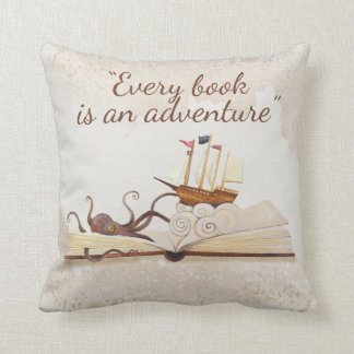 Book Quote Decorative Throw Pillow