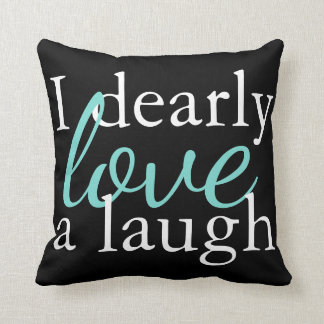 Book Quote Pillow Teal, White, Black - Jane Austen