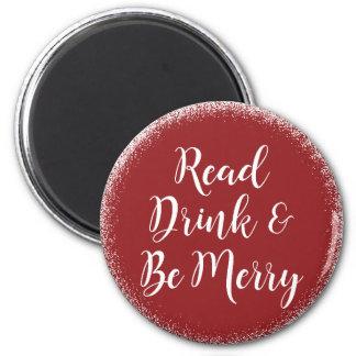 Book Reader Elegant Festive Magnet