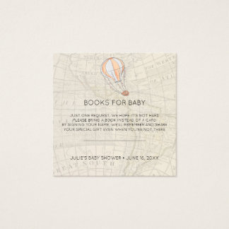Book Request   Hot Air Balloon Baby Shower Insert