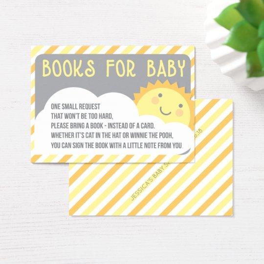 Book Request Insert Card - Bring A Book - Sunshine