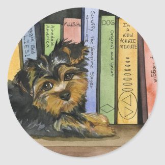 Book Shelf Cutie Round Sticker