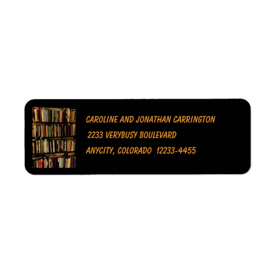 Book Shelves Return Address Label