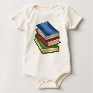Book Stack Library Books Reading Teacher School Baby Bodysuit