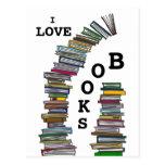 Book Stacks Postcard