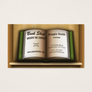 Book Store Book Shelf  Bookstore Business Cards