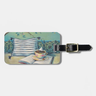 Book & Teacup Luggage Tag