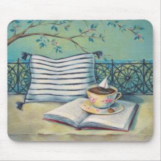Book & Teacup Mousepad