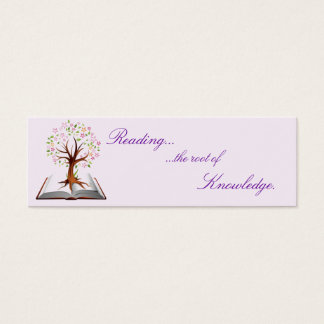 book tree knowledge bookmark mini business card