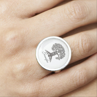 Book Tree - Personalized Ring