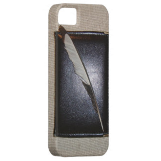 Book wild duck feather iPhone 5 covers