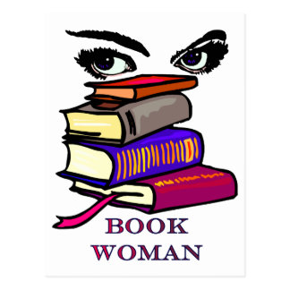 Book Woman Postcard