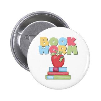 Book Worm 2 Inch Round Button