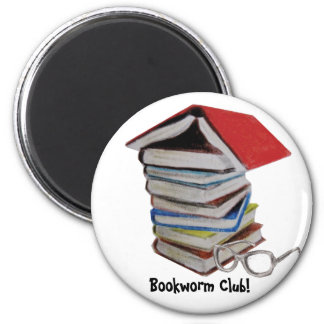 Book worm club magnet