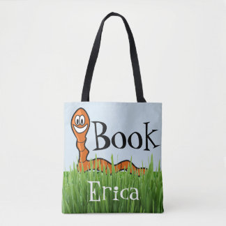 Book Worm Customize Library Tote Bag Cute