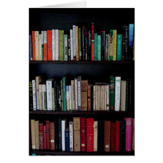 Bookcase and Books Card
