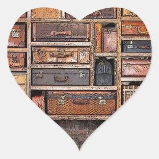 Bookcase Heart Sticker