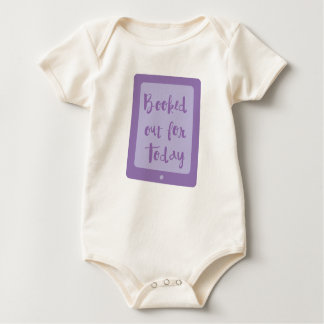 booked out for today (e reader) baby bodysuit
