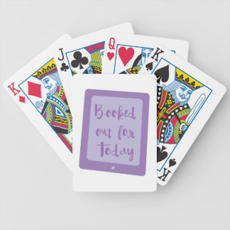 booked out for today (e reader) bicycle playing cards