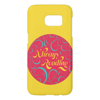 Bookish Always Reading Vibrant Yellow Samsung Galaxy S7 Case