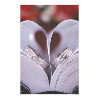 Bookish heart custom stationery