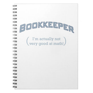 Bookkeeper - I'm actually not very good at math! Notebooks
