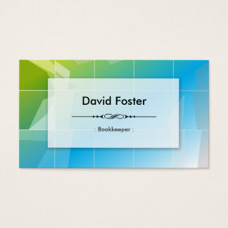 Bookkeeper - Modern Elegant Simple Business Card