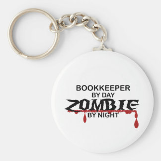 Bookkeeper Zombie Keychain
