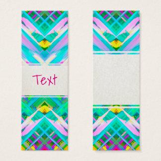 Bookmark Card Colorful digital art splashing G473