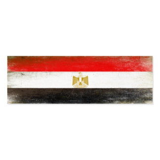 Bookmark Card with Cool Flag from Egypt Business Card Template