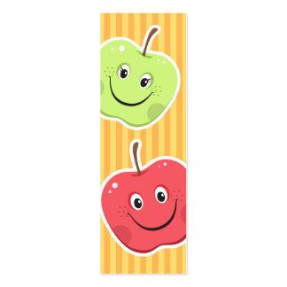 Bookmark: Cartoon apple characters Mini Business Card