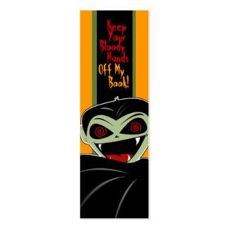 Bookmark Dracula Vampire Halloween Bloody Custom Pack Of Skinny Business Cards