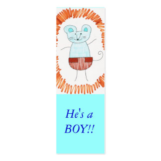 Bookmark He's a BOY!! Pack Of Skinny Business Cards