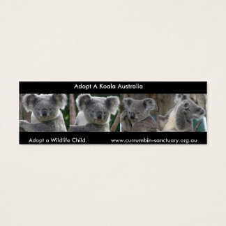 Bookmark Koalas Adopt a Wildlife Child Australia Mini Business Card