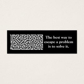 Bookmark or profile card- problem solver mini business card