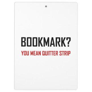 Bookmark Quitter Strip Clipboard