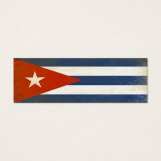 Bookmark with Distressed Vintage Flag from Cuba Mini Business Card
