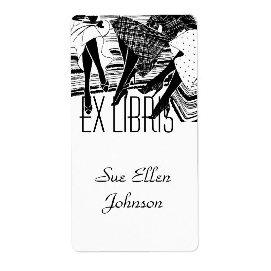Bookplate Book Club Group Ex Libris Name Labelling Shipping Label