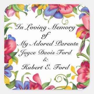 Bookplate, In Memoriam, Donation Square Sticker