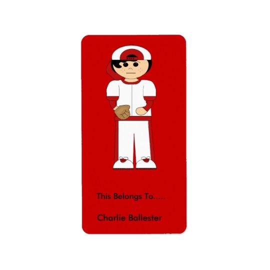 Bookplate Labels Kids Stickers Boy Sports