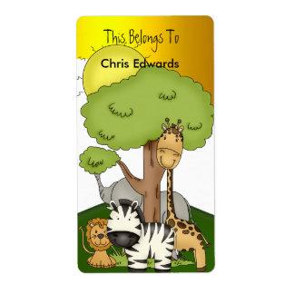 Bookplate Labels School Teens Kids Jungle 3